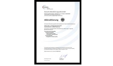 Сертификаты калибровки для датчиков и измерительных приборов ALMEMO<sup>®</sup>